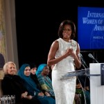 A voice people listen to: Michelle Obama at the International Women of Courage Award