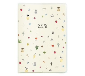 2018 A6 MONTHLY DIARY: SWEET