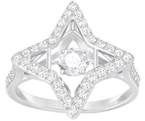 Swarovski Sparkling Dance Star Ring, White, Rhodium plating White Rhodium-plated