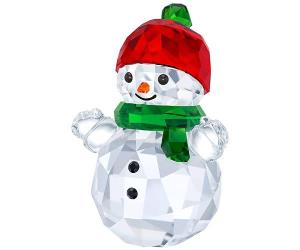 Swarovski Snowman with Red Hat Color accents