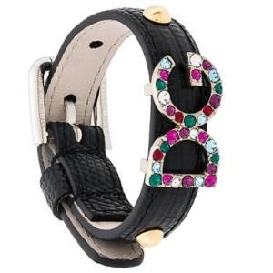 DOLCE & GABBANA logo plaque buckle bracelet