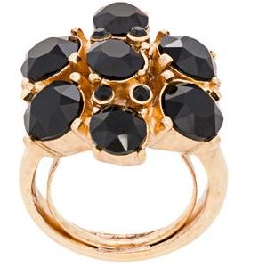 OSCAR DE LA RENTA gemstone floral ring
