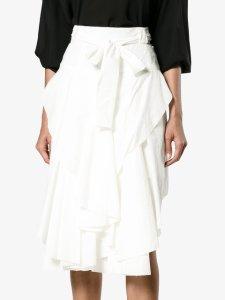 KITX asymmetric frilled front skirt