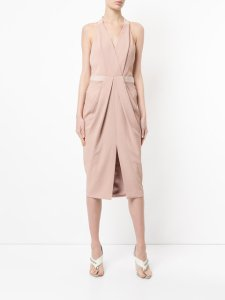 DION LEE whitewash drape dress