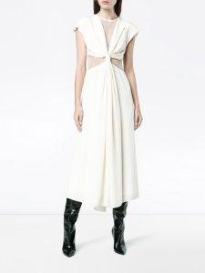 KITX silk web knot dress