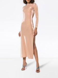 MICHAEL LO SORDO Open Back Stretch Jersey Dress