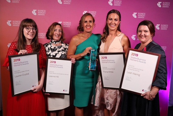 All the winners,Telstra Business Women Awards Victoria 2019