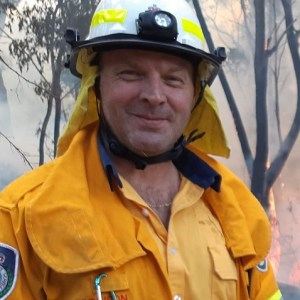 NSW RFS volunteer firefighter Mark Robinson