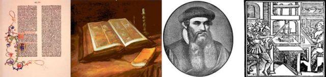 Die Gutenberg Bibel ggedruckt auf Hanf