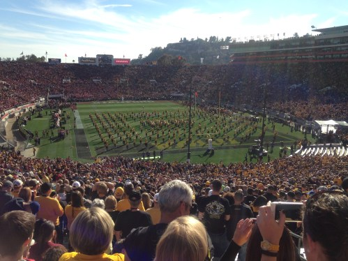 Iowa Marching Band before the Game