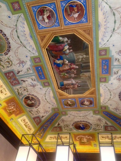 Ceiling of the Wine Bar of the Hotel Alfieri in Florence