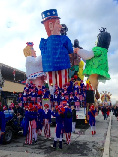 I could not figure out what the USA float was all about.