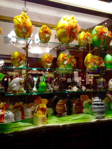 Window Display of a Coffee House and Gelateria