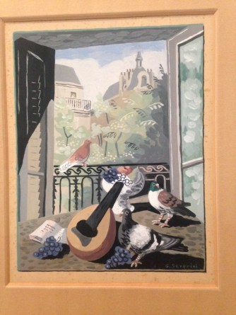 """Painting """"La Finestra Coi Colombi"""" by Gino Severini (1931) in Museo Nove Cento in Florence"""