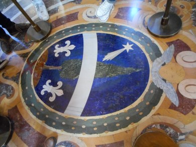 Floor with Lapis Lazuli in the Vatican Museum - Some Floors Are Too Precious to Walk On