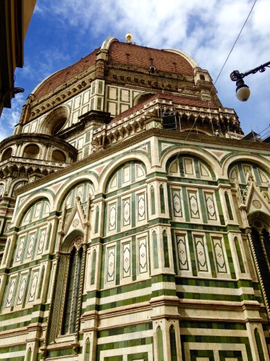 """The Duomo's """"mighty hillside enamelled with blooming flowers"""""""