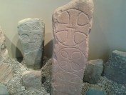 Carved crosses St Ninian's Cave Isle of Whithorn