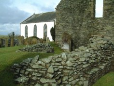 Remains of St. Ninian's Chapel on Whithorn.