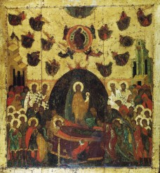 Dormition of the Mother of God, the temple icon of the Assumption Cathedral, Kremlin, Moscow