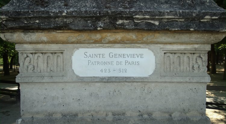 The Foundation of the St Genevieve Statue in Jardin Du Luxembourg Paris