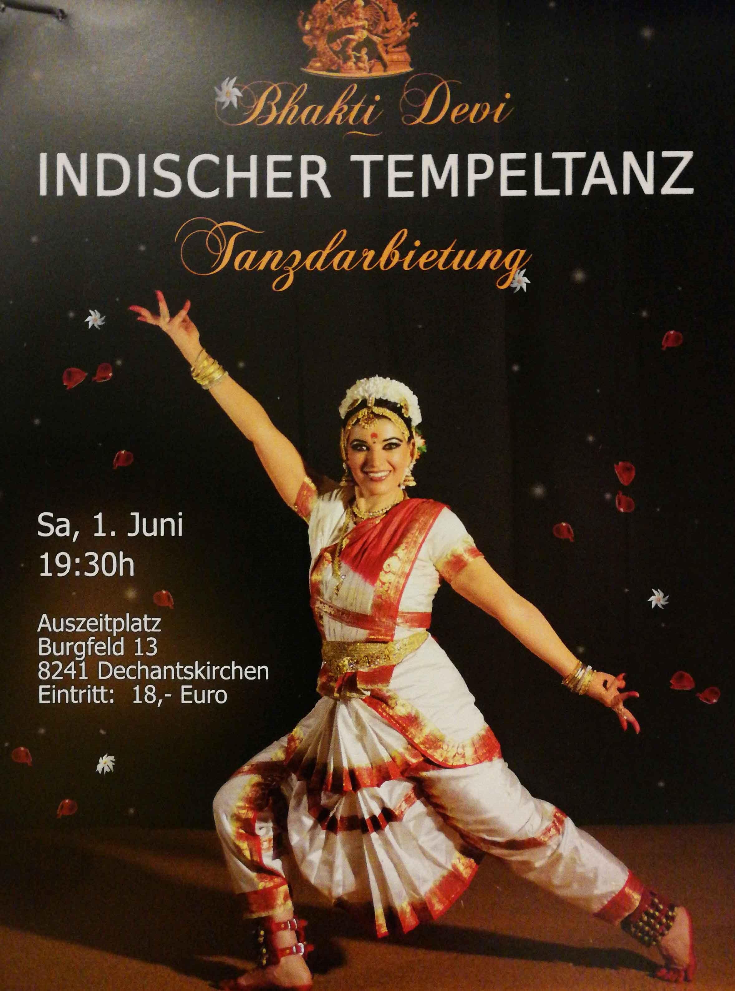 Der indische Tanz bringt Glück und Segen ins Haus