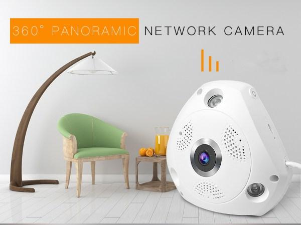 3MP Panorama Camera WIFI Wireless Fish eye Two Way Audio Security System 2