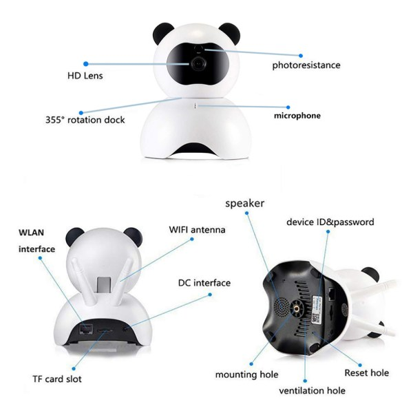 1080P Security Camera Day Night Motion Detection IR CCTV Camera with Built in Speaker 4