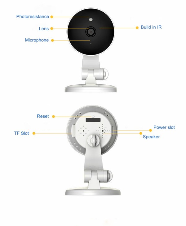 IP Camera Wireless WIFI 360 Panoramic Camera Two Way Audio Motion Detection 6
