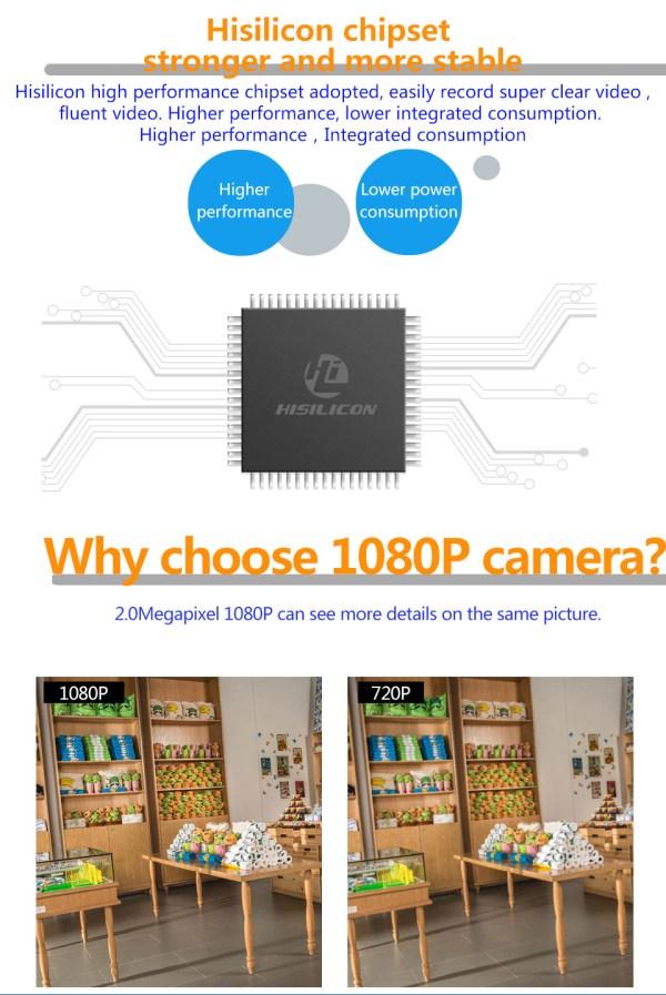 Mini Bullet Camera 1080P Outdoor Wireless Wifi Security IP Camera 6