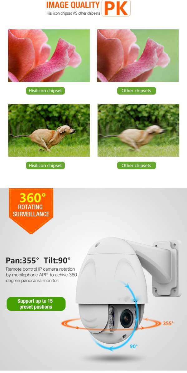 PTZ Dome Camera 4 times Zoom P2P 1080P Onvif IR 30m Full HD CCTV Outdoor Camera 7