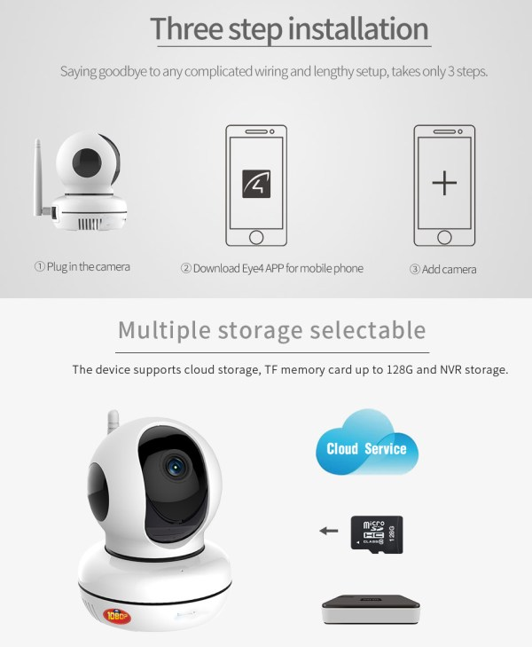 Privacy Network Camera WIFI p2p Two way Audio Home Security Surveillance Camera 8