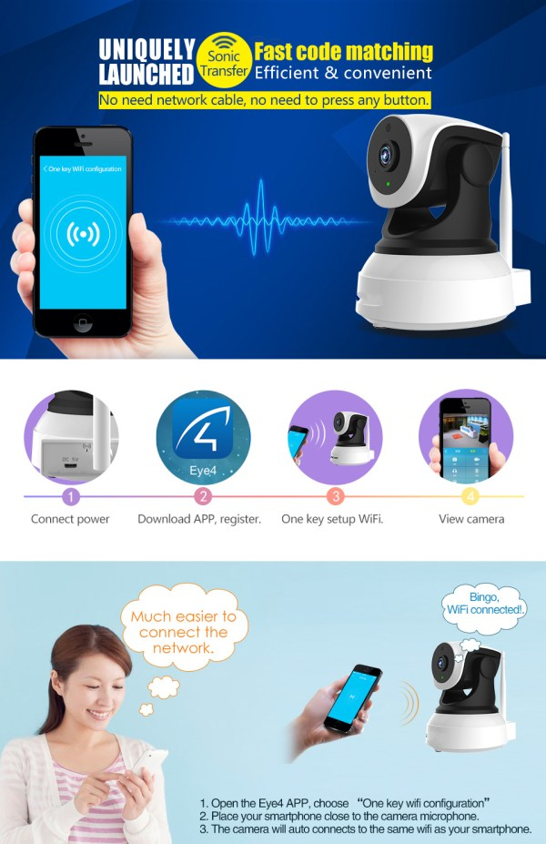 Audio Camera with Two way Audio IR Day Night Indoor Wifi Mini IP Camera Home Security Network Camera 3
