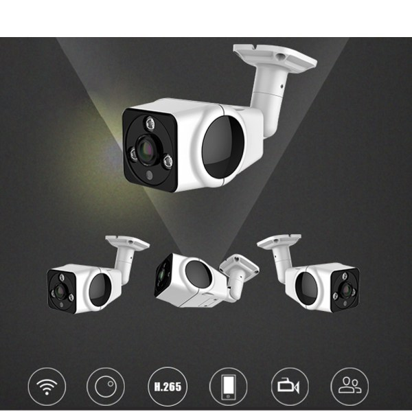 Mini Bullet IP Camera with 180 degree Panoramic Two Way Audio P2P Motion Detection 2