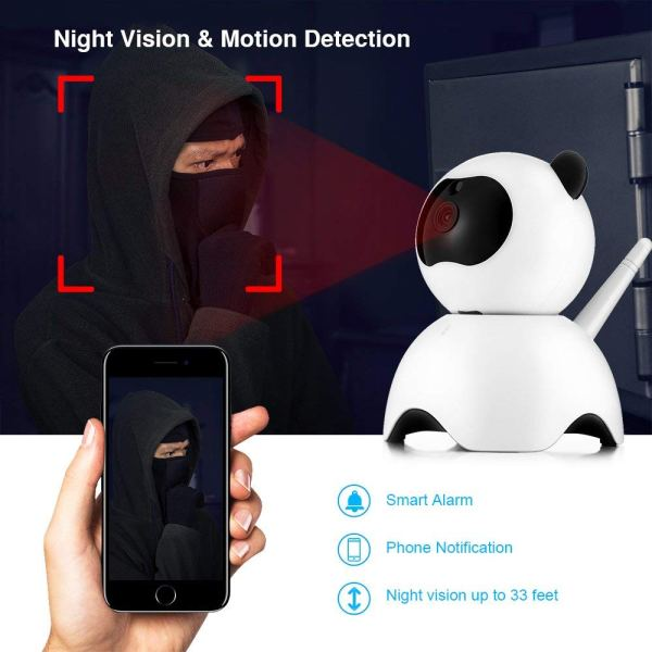 1080P Security Camera Day Night Motion Detection IR CCTV Camera with Built in Speaker 9