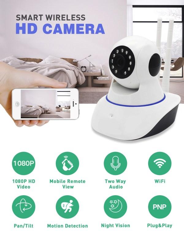IP Camera WiFi Wireless Surveillance CCTV Camera 720P 960P 1080P Home Security Baby Monitor 7