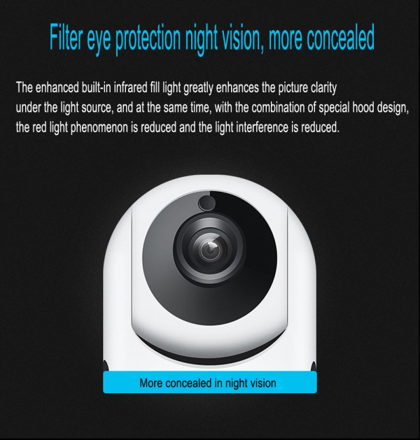 P2P IP Camera with Motion Detection Two Way Audion Wireless PT CCTV Camera 5