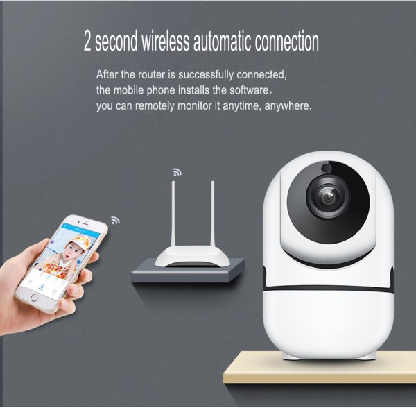 P2P IP Camera with Motion Detection Two Way Audion Wireless PT CCTV Camera 3