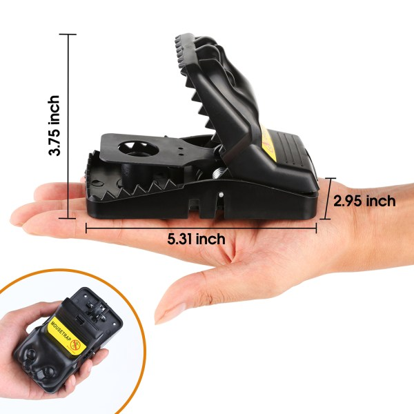 Mouse Trap, Snap Rat Trap That Work Outdoor or Indoor Powerful Sensitive Effective Killer Catcher 6 Pack 2