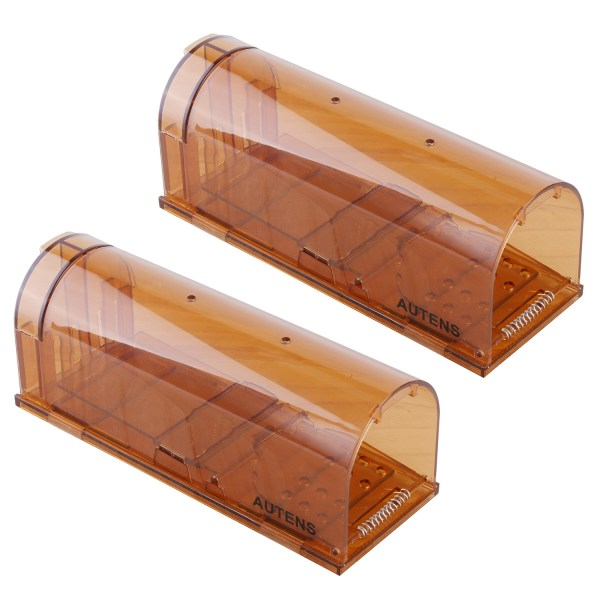Humane Mouse Trap, Live Catch and Release, No Kill, Best for Small Rats, Mice, Hamsters, Mole - 2 Pack Brown 1