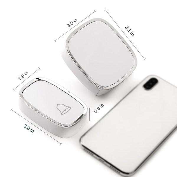 Wireless Doorbell, Waterproof Door Bells & Chimes with 36 Chimes 4 Level Volume 1000 Ft Long Range 8