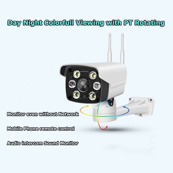 1080P Bullet IP Camera with Motion Detection PT Rotating Bracket Smart Day Night IR WIFI CCTV Surveillance 2