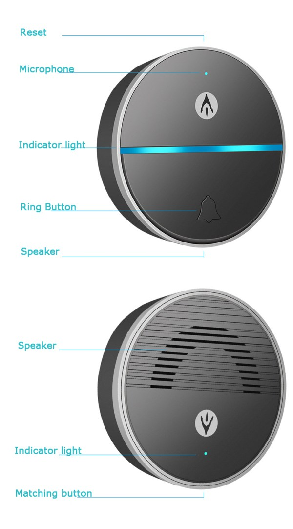 Wireless Doorbell Intercom Support Remote Receiving Group Chatting Update online Door phone Intercom 3