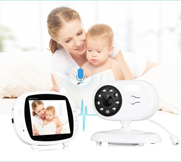3.5inch Wireless Baby Monitor Support Temperature Detect Two Way Audio Video Intercom with Lullabies Baby Camera 9