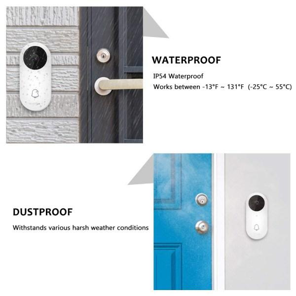 Video Doorbell Waterproof Wifi Wireless Video Intercom System with Indoor Chime Door Phone Camera 4