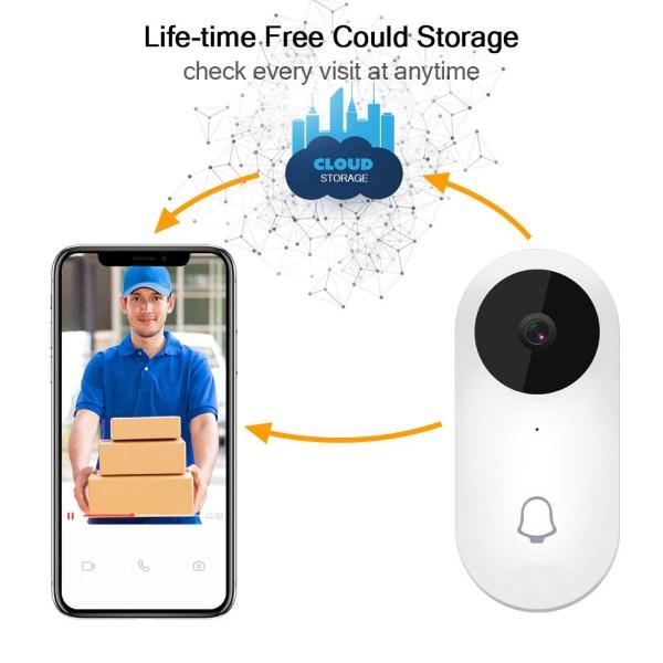 Video Doorbell Waterproof Wifi Wireless Video Intercom System with Indoor Chime Door Phone Camera 5