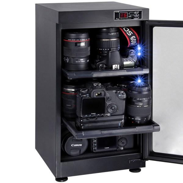 AUTENS 48L Digital Control Dehumidify Dry Cabinet Box DSLR Lens Camera Equipment Storage 5