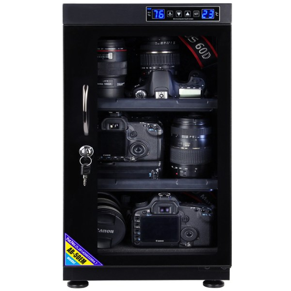 AUTENS 50L Touch Screen Camera Dehumidifying Dry Cabinet Storage Box for DSLR Camera Lens 2