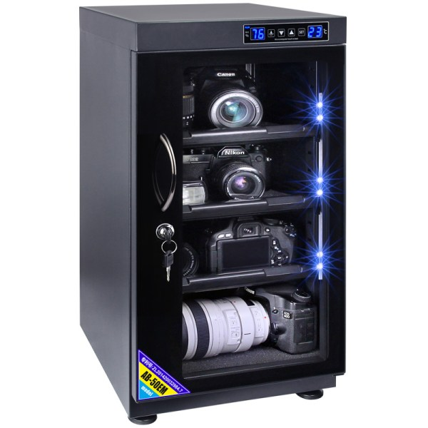 AUTENS 50L Touch Screen Camera Dehumidifying Dry Cabinet Storage Box for DSLR Camera Lens 6