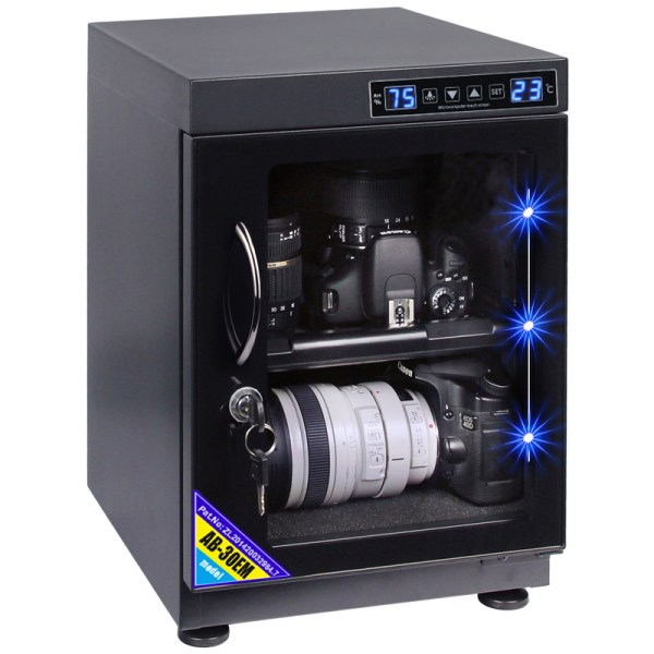 AUTENS 30L Touch Screen Camera Dehumidifying Dry Cabinet Storage Box for DSLR Camera Lens 1