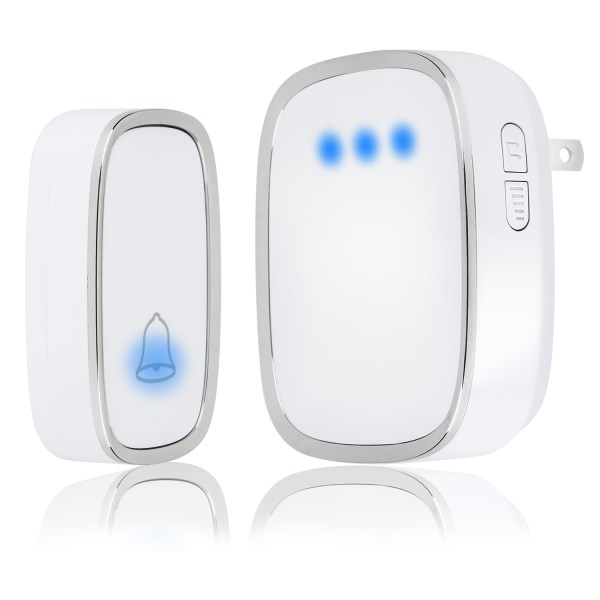 Wireless Doorbell, Waterproof Door Bells & Chimes with 36 Chimes 4 Level Volume 1000 Ft Long Range 1